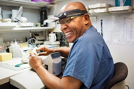 An in-house, state-of-the-art laboratory and our own dental lab technicians.
